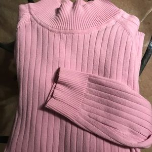 White Stag Pretty Pink Long Sleeve Turtleneck